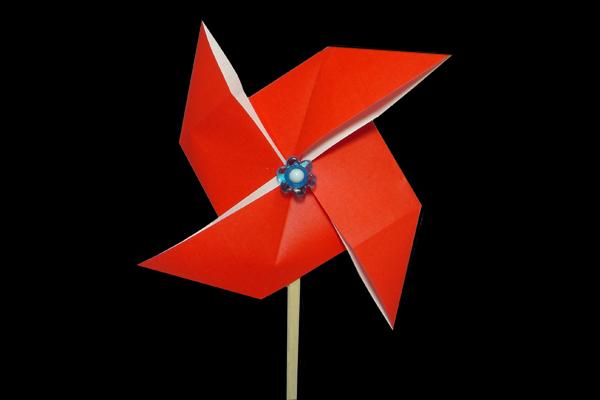 簡単 折り紙 折り紙 かざぐるま : origamijapan.net