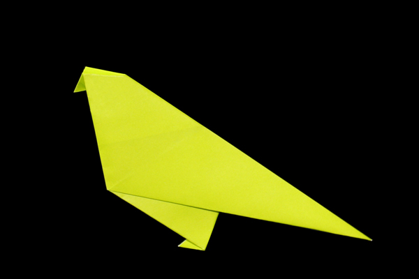 step by step instructions how to make origami A Bird. | Origami easy,  Origami patterns, How to make origami | 400x600