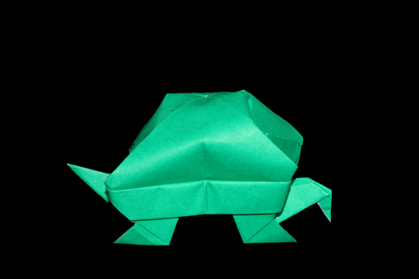 Turtle Type-1   100 Easy origami instructions and diagram