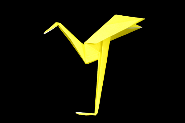 Heron   Easy origami instructions and diagram