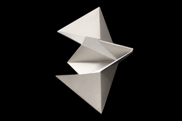 Crow's Beak | Easy moving origami instructions and diagram