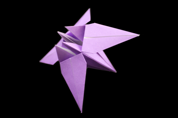 Iris | Easy flower origami instructions and diagram