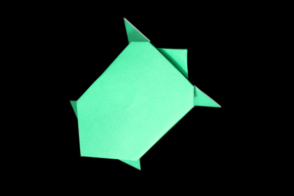 how to fold a frog - Google Search | Origami turtle, Origami frog ... | 400x600
