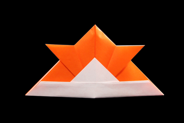 How to Make an Origami Samurai Hat Bookmark: 12 Steps | 400x600