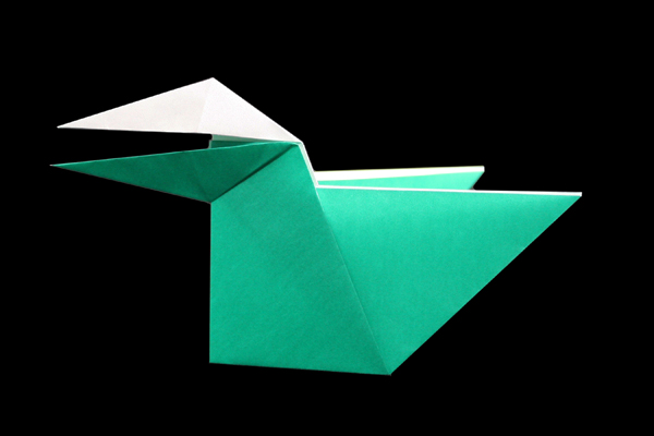 Talking Crow | Easy origami instructions and diagram