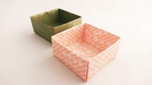 How to fold an origami paper Box | Instructions and Diagram