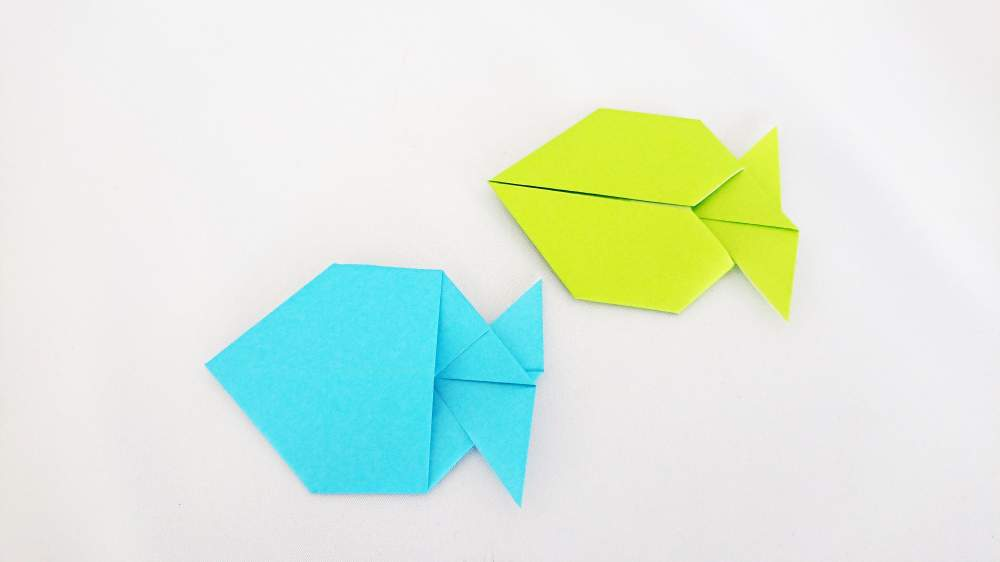 How to make an origami Fish | Paper Crafts Instructions and Diagram