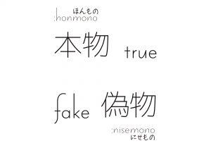 True, Fake / 本物, 偽物 All free Download Japanese KANJI Design Art